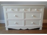 Aspace Belvoir Large Chest of Drawers in Ivory White Rrp £1000+
