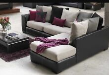 Leather / fabric chaise lounge  Banora Point Tweed Heads Area Preview
