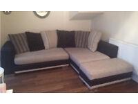 DFS Monaco habitat fabric sofa natural and brown