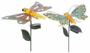 Pair of Dragonfly Butterfly Solar Lights E2016/17 Athelstone Campbelltown Area Preview