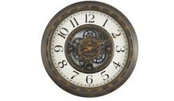 Mainstays 15.5 Gear Wall Clock Aged Bronze Finish Bold Arabic Numerals NEW