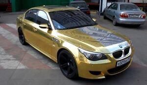 GOLD VINYL OR VINYLE WRAP mercedes audi bmw infinity lexus