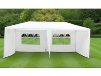 Garden furniture marquee/gazebo for a party or bbq