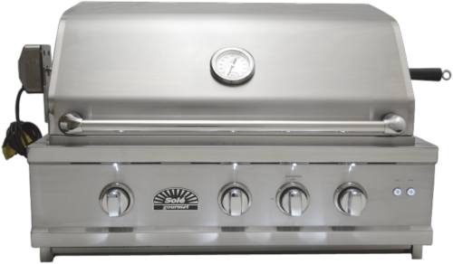 Sole 30 Inch Luxury Natural Gas Grill with Lights and Rotiss