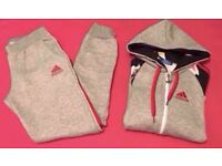 LT Grey & Red Floral Jogging Tracksuit Brand New