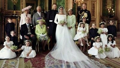 Prince Harry And Meghan Markle Family Wedding Photo Fridge Magnet 5  X 3 5