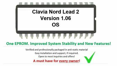 Clavia Nord Lead 2 - Ver. 1.06 Firmware Update Upgrade Eprom For Rack Teclado comprar usado  Enviando para Brazil