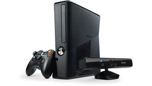 xbox 360 slim avec 18 jeux et 1 kinect