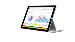 Microsoft Surface Pro 3, KB and New Dock- i7, 8GB RAM, 256GB HDD