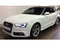 White AUDI A5 CABRIOLET 2.0 TDI Diesel S LINE Special Edition FROM £83 PER WEEK!