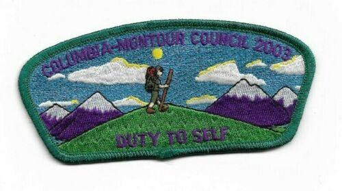 boy scout columbia-montour council 2003 FOS duty to self patch mint