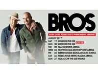 x2 BROS FACE VALUE TICKETS @ LONDON 02 ARENA (20th Aug 17')