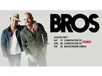 2 Tickets for Bros, 02 Arena London, 19/8/17