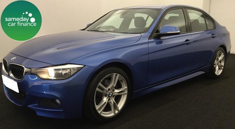 £308.01 PER MONTH BLUE 2013 BMW 320D 2.0 M SPORT 4 DOOR SALOON DIESEL MANUAL