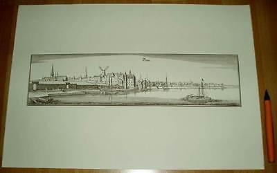 Bonn alte Ansicht Merian Druck Stich 1650 (schw)