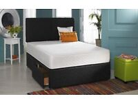 """LIMITED TIME OFFER !! Brand New Double Divan Base + 12"""" Thick Super Orthopaedic Mattress"""