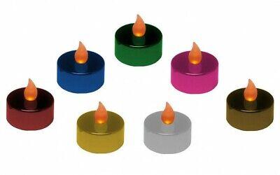2er Set Teelichter LED verschiedene Farben flackernd Kerze Teelicht Weihnachten  ()