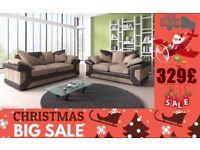 BRAND NEW JUMBO CORD DlNO 3 And 2 seater corner sofa