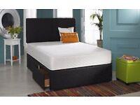 DOUBLE DIVAN DEEP QUILT BED !! BED BASE + DEEP QUILT MATTRESS