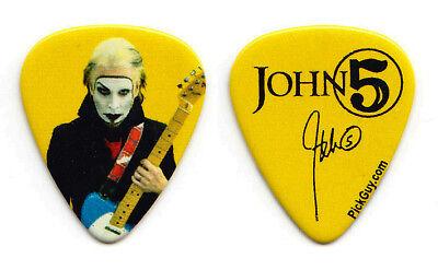 Rob Zombie John 5 Signature Photo Yellow Guitar Pick - 2011-2012 Tour