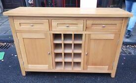 Solid oak kitchen sideboard