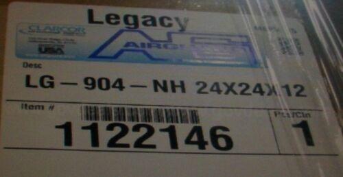 NEW Legacy Airguard LG 904 NH RIGID CELL FILTER 24 x 24 x 12