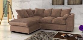 BRAND NEW CHEAP PRICE AMAZING QUALITY DYLAN BYRON JUMBO CORD 3+2 SEATER SOFA - CORD AND FAUX LEATHER