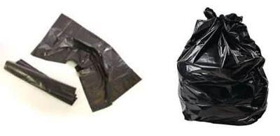 18x29x38 GALAXY HEAVY DUTY BLACK Bin Liner Rubbish Bag Waste Refuse SACK x 400