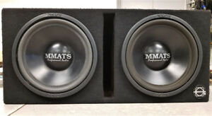 """Dual 12"""" MMats Subs in Ported Bassworx Box"""