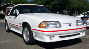 Mustang GT 1989 5L Convertible Triple White