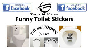 Funny Toilet Stickers (3 Different Stickers To Choose)