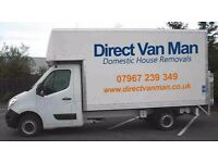 Man and Large Box Van-Removals moves/Single Furniture Deliveries/Transport Courier