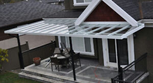 Aluminum patio cover and Tempered glass