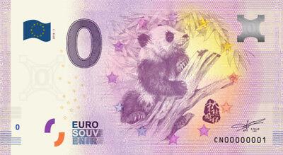 Billet Touristique 0 Euro --- Panda (Chine) 2018-1