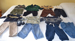 12 month Mix and match Baby Boy sweaters, pants and shoes