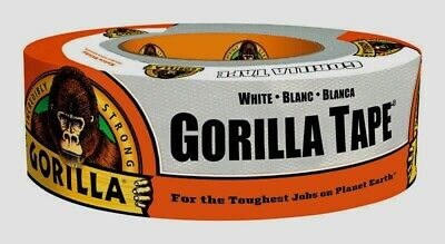 Gorilla Duct Tape White Uv Moisture Resistant Repairs Crafts 1.88 In X 30 Yd