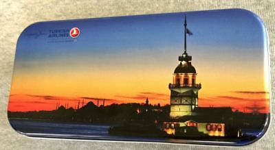 Turkish Airlines Tin Lithograph Passenger Amenities Kit Nice Graphics  Mint