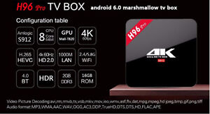 ANDROID TV 4K ULTRA H96 PRO KODI 16 & SHOWBOX FULLY LOADED