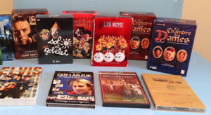 DVD, GROS LOT DE COFFRETS et SÉRIES, ELVIS, DOWNTON ABBEY ETC..