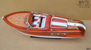 RV72-WOOD-WOODEN-SPEED-BOAT-SHIP-MODEL-for-display-66cm-26-High-quality