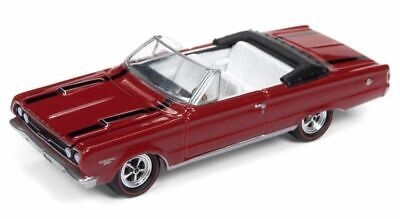 1967 Plymouth GTX convertible Light Blue poly ** RR ** Johnny Lightning muscle 1:64 OVP