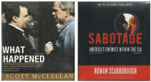2 AUDIOBOOKS - WHAT HAPPENED Scott  McClelland  & SABOTAGE CIA R