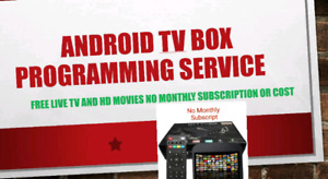 ANDROID TV BOX PROGRAMMING SERVICE  WATCH !! LIVE TV MOVIES CHAN