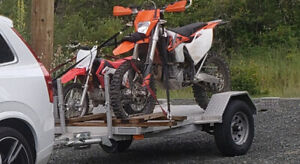 STOLEN-  Trailer, 2018 KTM 500 EXC and Family Bikes