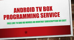 ANDROID TV BOX PROGRAMMING LIVE TV MOVIES CHANNEL NO MONTHLY FEE