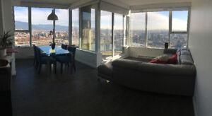 1100ft2 - 2 bedrooms + den sub penthouse furnished Nov-Feb