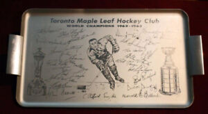 1962-63 Toronto Maple Leafs Stanley Cup Champions Serving Tray
