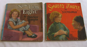 1937 Shirley Temple Softcover Book Now I Am Eight & Stowaway 2PC