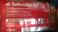 4 bags of Roxul Safe'n'Sound insulation