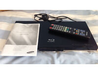 Samsung Blu Ray player (BD-C5300) - Excellent Condition - with remote and instruction manual